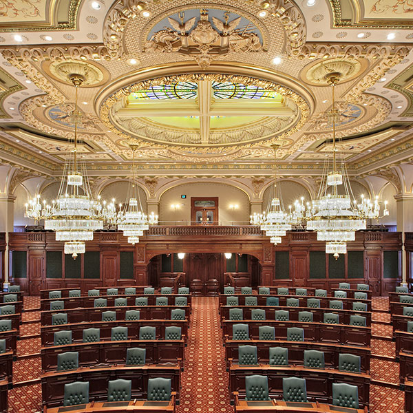 Illinois State Capitol Legislative Chambers
