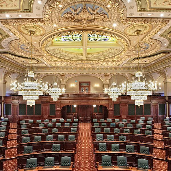 Illinois State Capitol Legislative Chambers