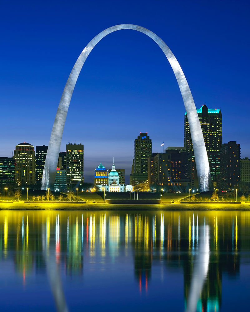 Gateway arch randy burkett lighting design for St louis architecture