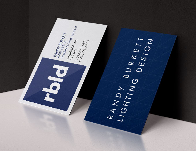 Randy Burlett Lighting Design Business Cards
