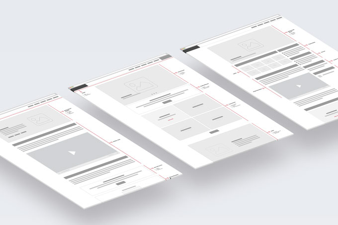 Content architecture wireframes